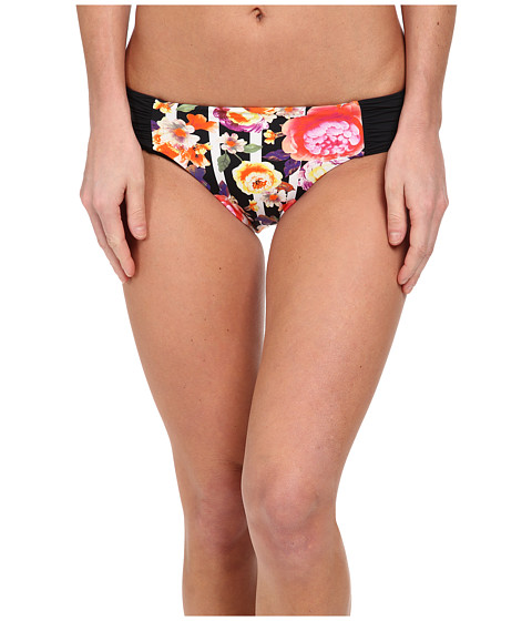 Seafolly - Romeo Rose Ruched Side Retro (Black) Women's Swimwear