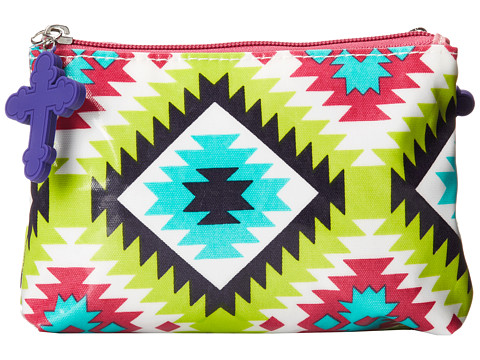 Gypsy SOULE - Double Snap Accessorie Bag (Turquoise/Lime/Pink) Bags