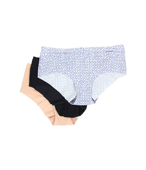 Calvin Klein Underwear - Invisibles Hipster 3-Pack (Black/Light Caramel/Organic Skin Print) Women