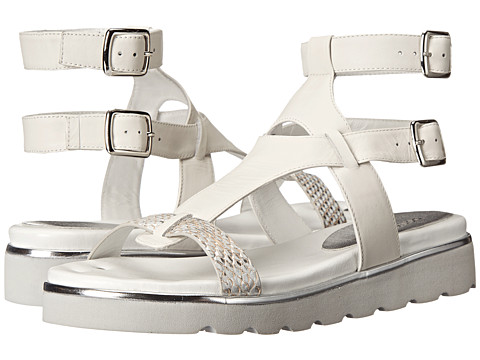 Donald J Pliner - Lido (Silver Brushed Met Snake Print) Women's Sandals