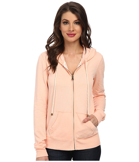 Seven7 Jeans - Burnout Fleece Hoodie (Orange Cream) Women