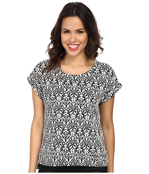 Seven7 Jeans - Jacquard Dolman Top (Black) Women