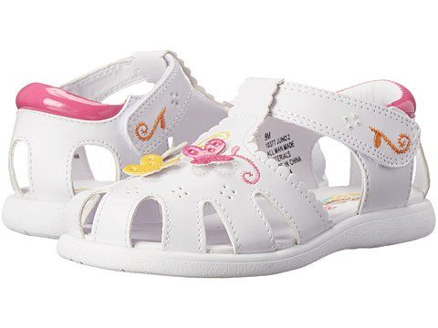 Rachel Kids - Juno 2 (Toddler) (White/Multi) Girls Shoes