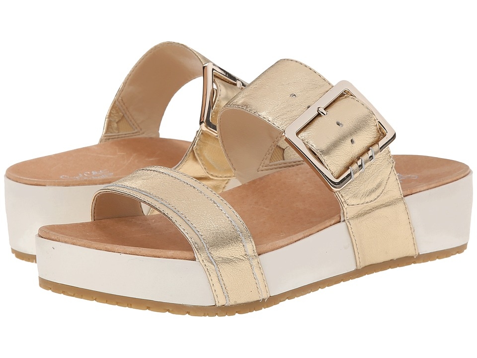 Dr. Scholl's - Frill - Original Collection (Platinum Leather) Women's Sandals