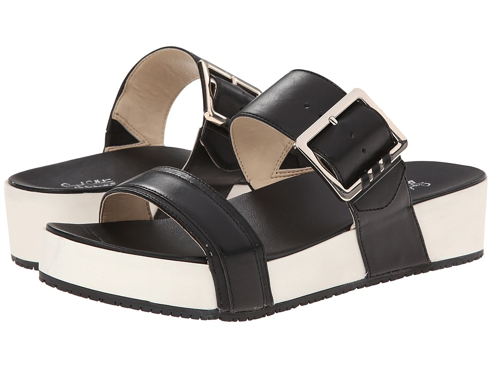 Dr. Scholl's - Frill - Original Collection (Black Leather) Women's Sandals