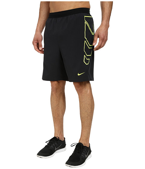 Nike - Vapor 8 Short (Black/Volt/Volt) Men's Shorts
