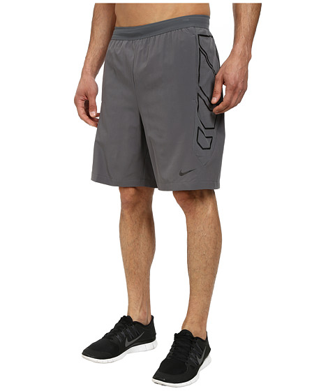 Nike - Vapor 8 Short (Dark Grey/Black/Black) Men