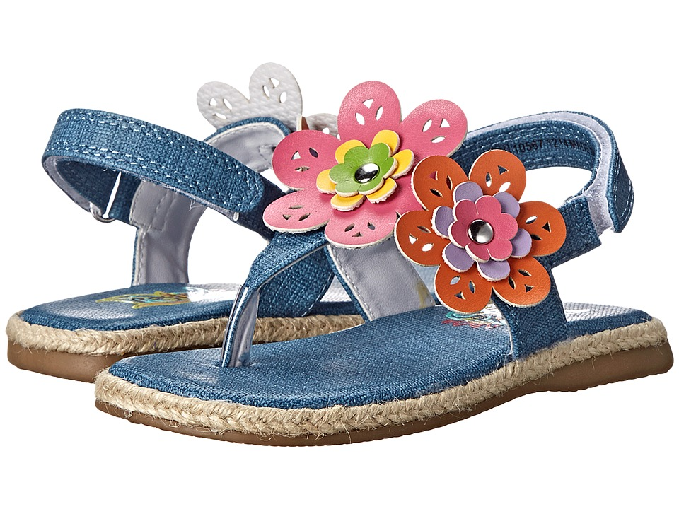 Rachel Kids - Rissa (Toddler/Little Kid) (Denim/Multi) Girls Shoes