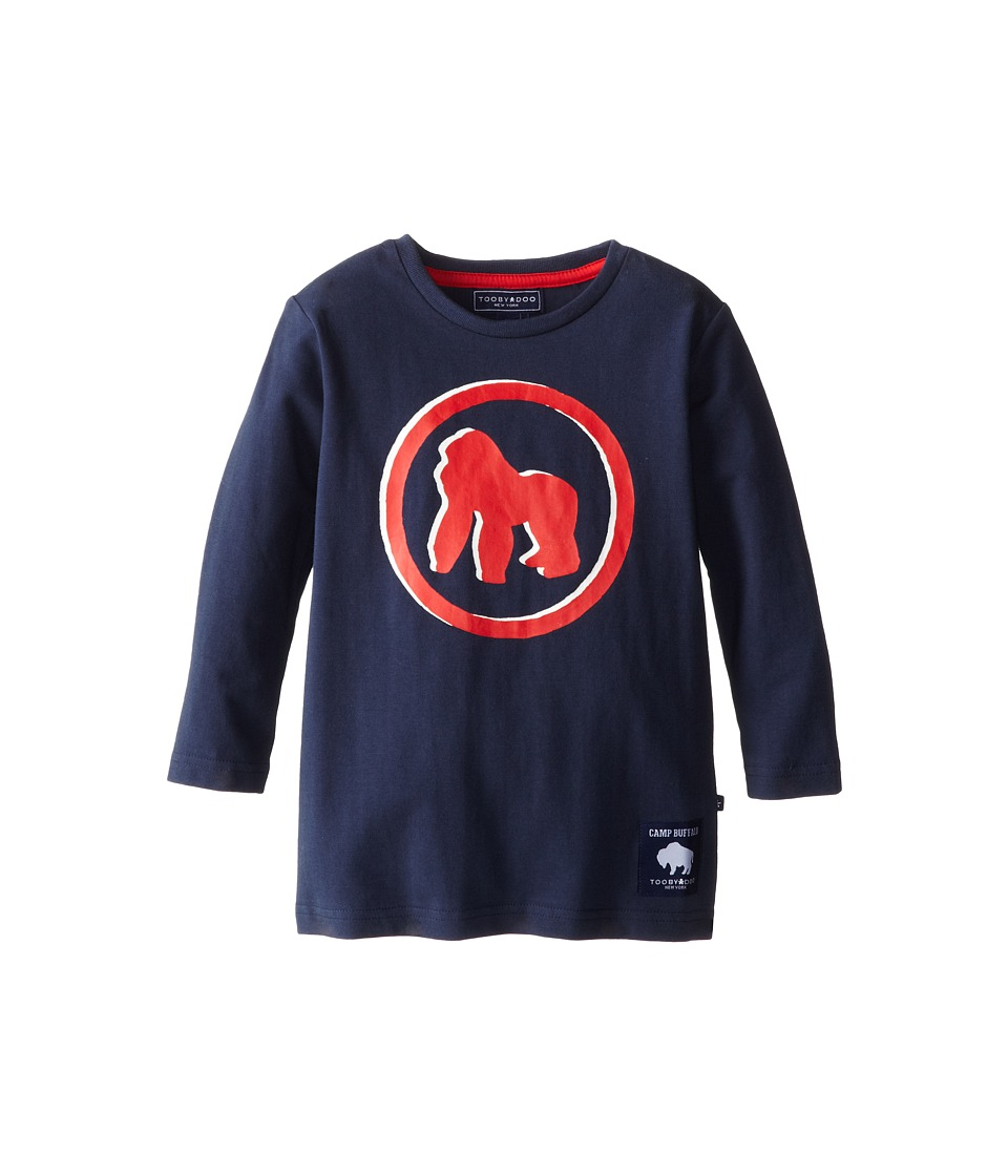 Toobydoo - Camp Buffalo Gorilla (Toddler/Little Kids/Big Kids) (Navy/Red) Boy's Long Sleeve Pullover