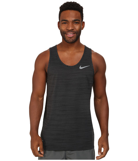 Nike - Dri-Fit Touch Tank (Black Pine/Black/Heather/Cool Grey) Men's Sleeveless