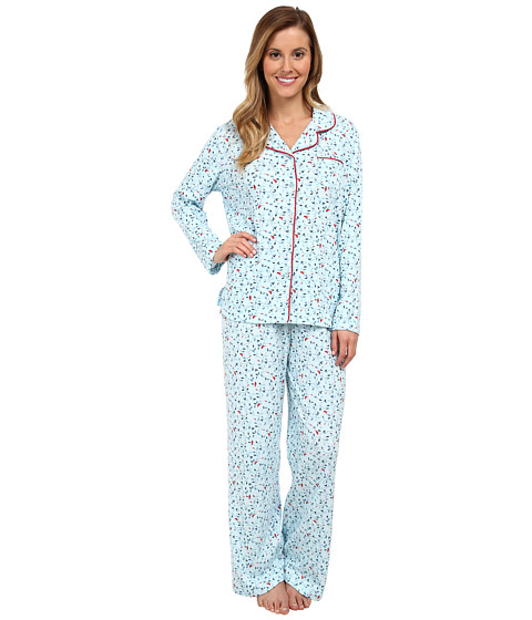 Karen Neuburger - L/S Girlfriend Long PJ (Cardinal Aqua) Women