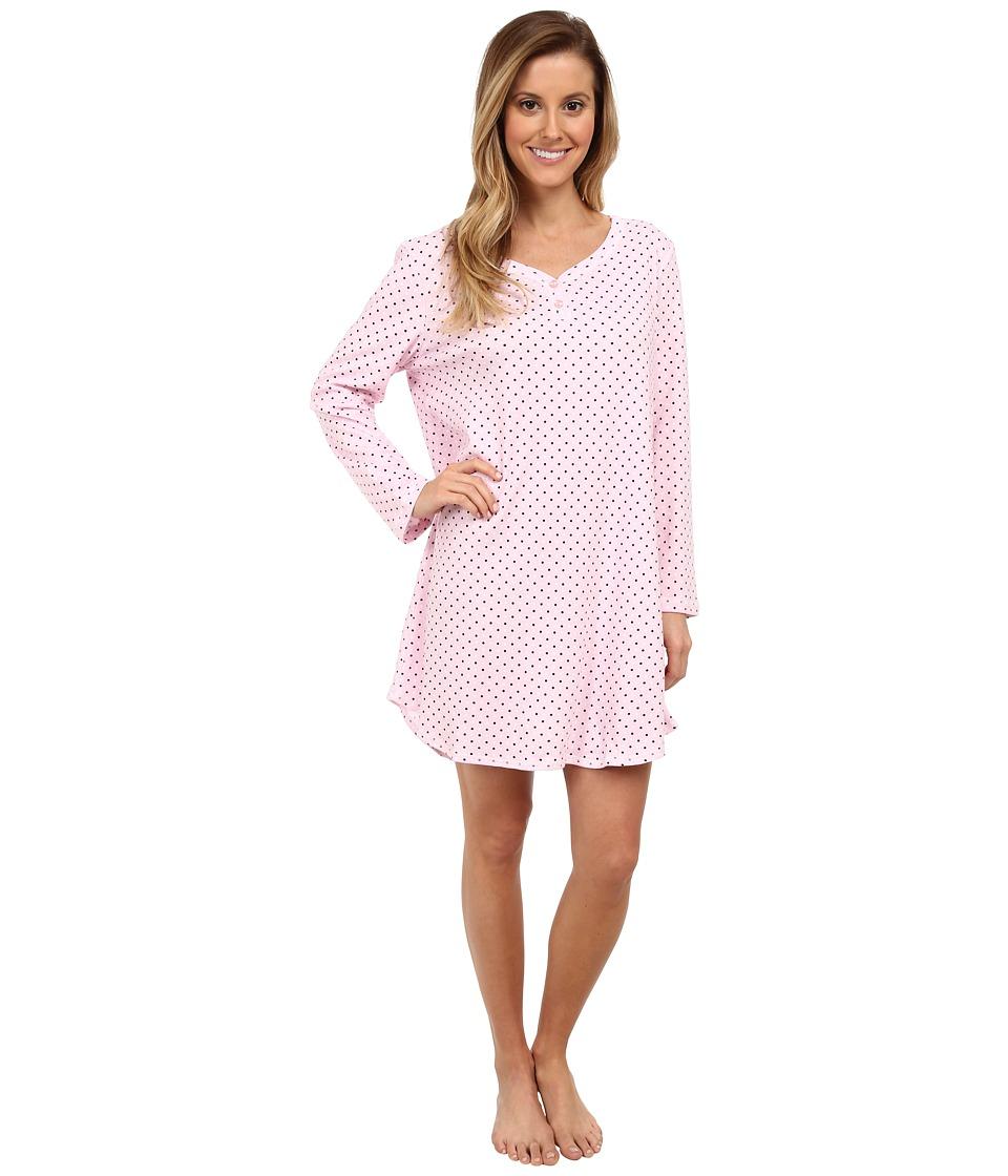 Karen Neuburger - L/S Pullover Nightshirt (Dot Pink) Women's Pajama