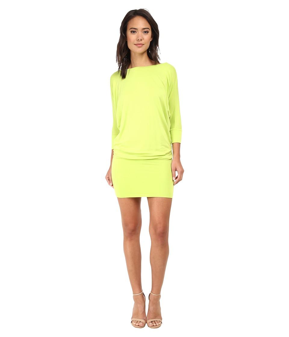 Culture Phit - Millie 3/4 Sleeve T-Shirt Dress (Lime) Women's Dress