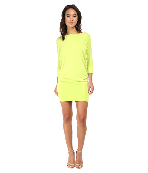 Culture Phit - Millie 3/4 Sleeve T-Shirt Dress (Lime) Women