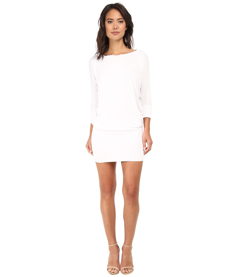 Buy culture phit millie 3 4 sleeve t shirt dress white Buy white dress shirt