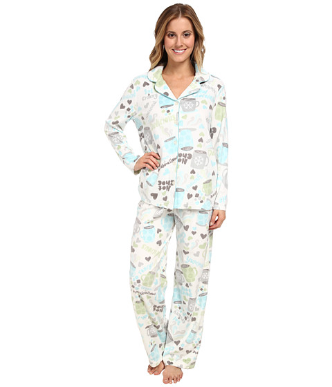 Karen Neuburger - L/S Girlfriend Long PJ (Cup Vanilla) Women's Pajama Sets