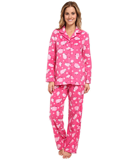 Karen Neuburger - L/S Girlfriend Long PJ (Sheep Hot Pink) Women's Pajama Sets
