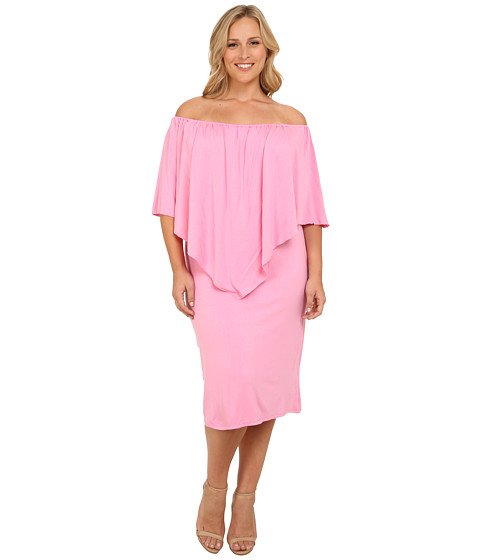 Culture Phit - Plus Size Nalah Dress (Pink) Women's Dress