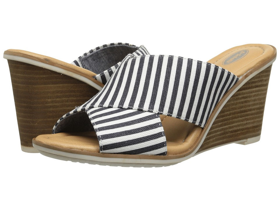 Dr. Scholl's - Jada (Navy/Gardenia Stripe) Women's Wedge Shoes