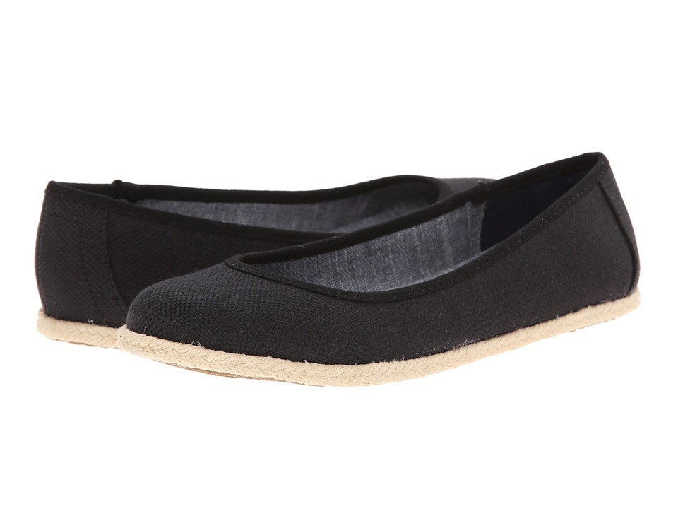 Dr. Scholl's - Palma (Black Beach Bag Canvas) Women's Flat Shoes