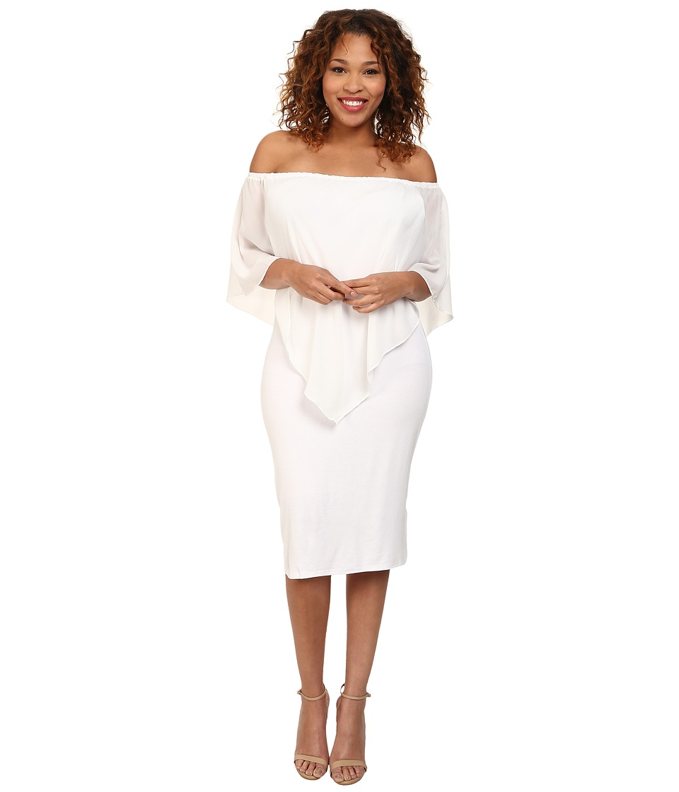 Gabriella Rocha - Plus Size Chiffon Nalah Dress (White) Women's Dress