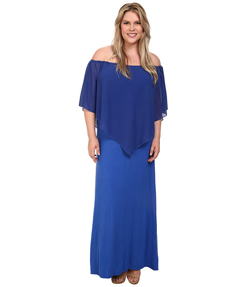 Gabriella Rocha - Plus Size Chiffon Ayden Dress (Royal) Women