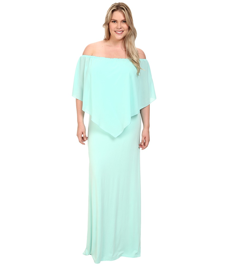 Gabriella Rocha - Plus Size Chiffon Ayden Dress (Baby Blue) Women