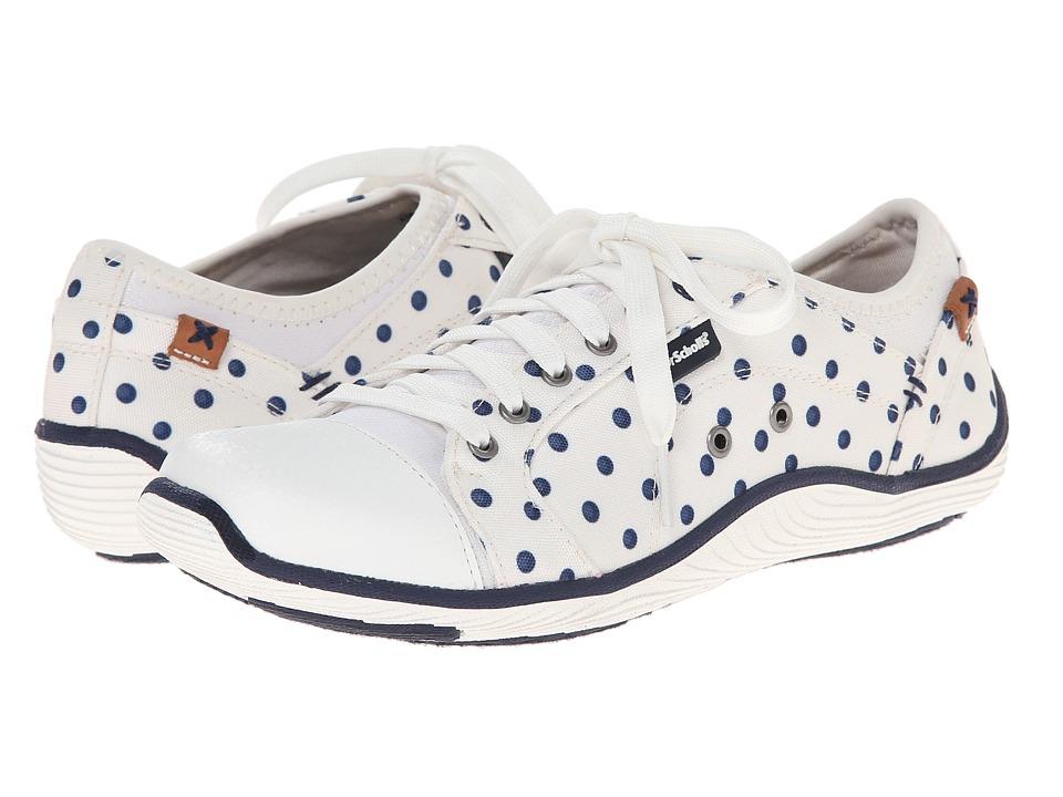 Dr. Scholl's - Jamie (Gardenia/Navy Dot) Women's Lace up casual Shoes