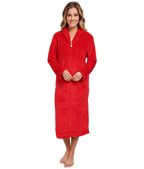Karen Neuburger - L/S Zip Robe (Ruby) Women
