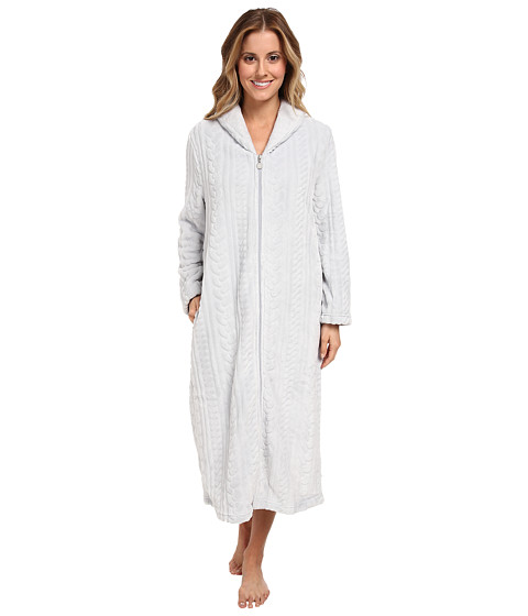 Karen Neuburger - L/S Zip Robe (Solid Ice Grey) Women