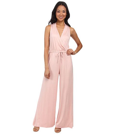 Culture Phit - Danielle Wrap Jumpsuit (Dusty Pink) Women's Jumpsuit & Rompers One Piece