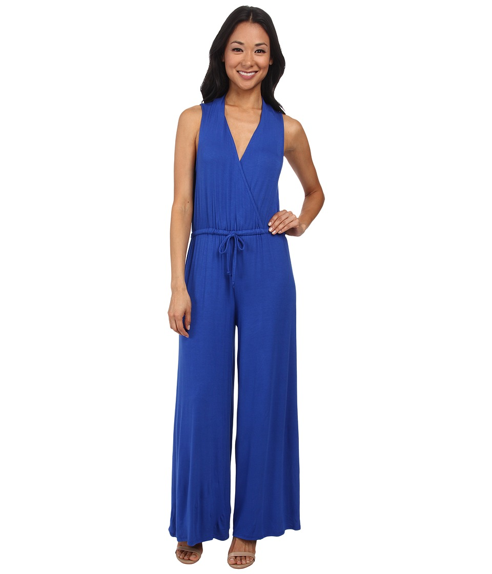 Culture Phit - Danielle Wrap Jumpsuit (Royal) Women's Jumpsuit & Rompers One Piece