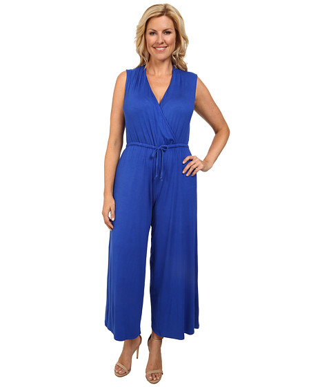 Culture Phit - Plus Size Danielle Wrap Romper (Royal) Women