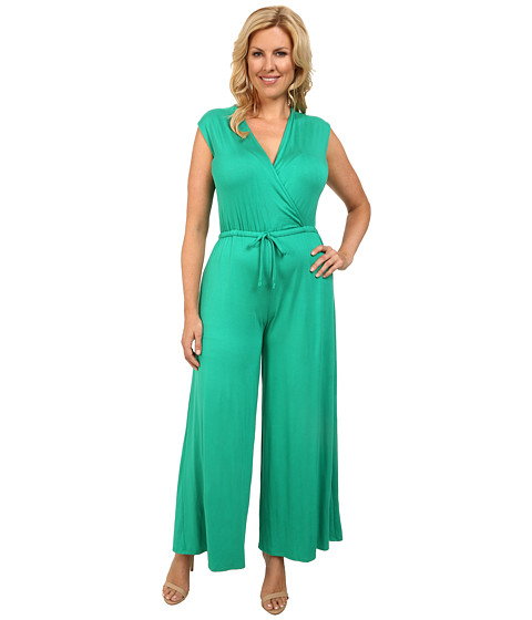 Culture Phit - Plus Size Danielle Wrap Romper (Kelly Green) Women