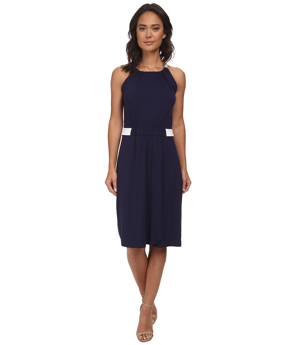 Christin Michaels - Hannah Sleeveless Dress (Navy/Ivory) Women's Dress