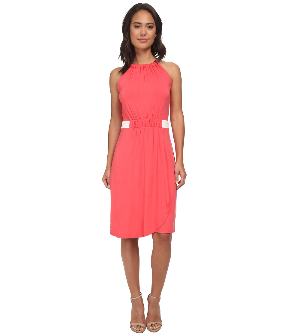 Christin Michaels - Hannah Sleeveless Dress (Coral/Ivory) Women's Dress