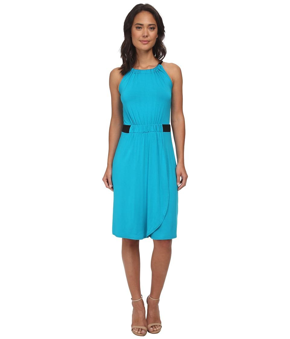 Christin Michaels - Hannah Sleeveless Dress (Teal/Black) Women's Dress
