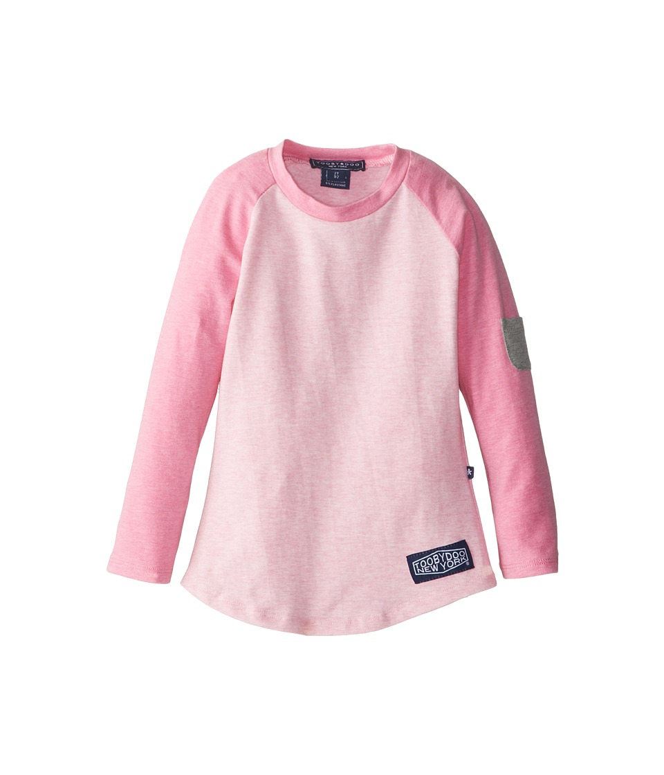 Toobydoo - Tooby Baseball Fitted Shirt (Toddler/Little Kids/Big Kids) (Pink) Girl's Long Sleeve Pullover