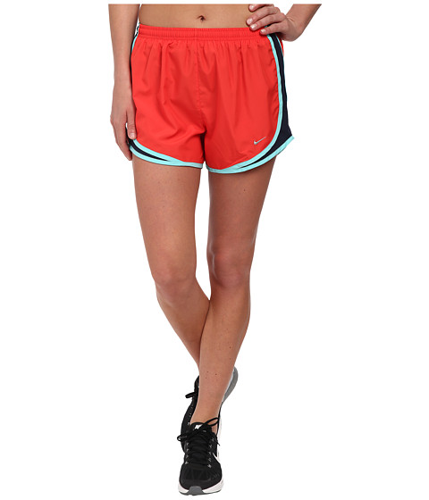 Nike - Tempo Short (Daring Red/Obsidian/Light Aqua/Matte Silver) Women's Workout
