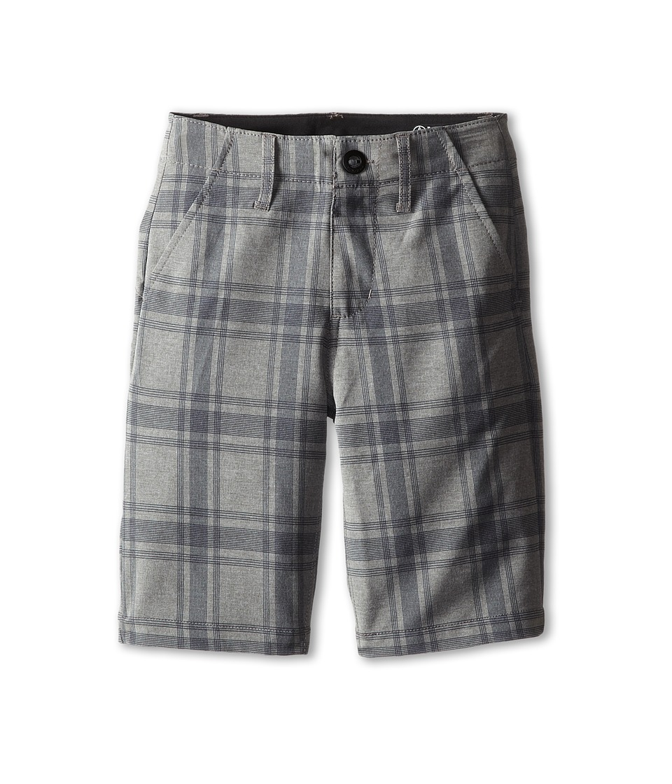 Volcom Kids - Frickin Static Plaid Short (Big Kids) (Gunmetal Grey) Boy's Shorts