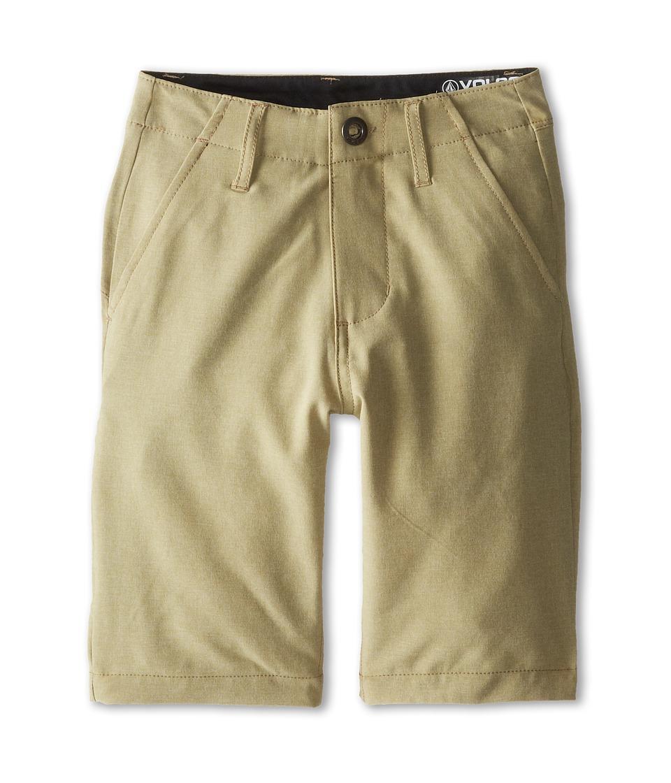 Volcom Kids - Frickin Static Short (Big Kids) (Khaki) Boy's Shorts