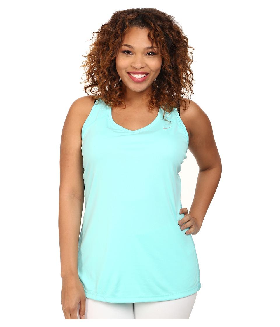 Nike - Extended Size Miler Tank (Light Aqua/Light Aqua/Light Aqua/Reflective Silver) Women's Sleeveless