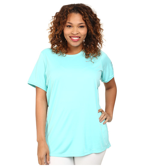 Nike - Extended Size S/S Miler (Light Aqua/Reflective Silver) Women's Short Sleeve Pullover