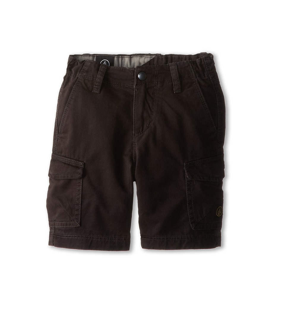 Volcom Kids - Fieldstone Cargo Short (Toddler/Little Kids) (Black) Boy's Shorts