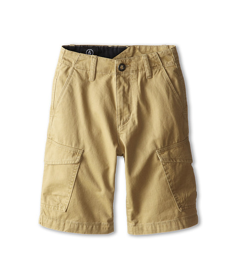 Volcom Kids - Fieldstone Cargo Short (Big Kids) (Khaki) Boy's Shorts