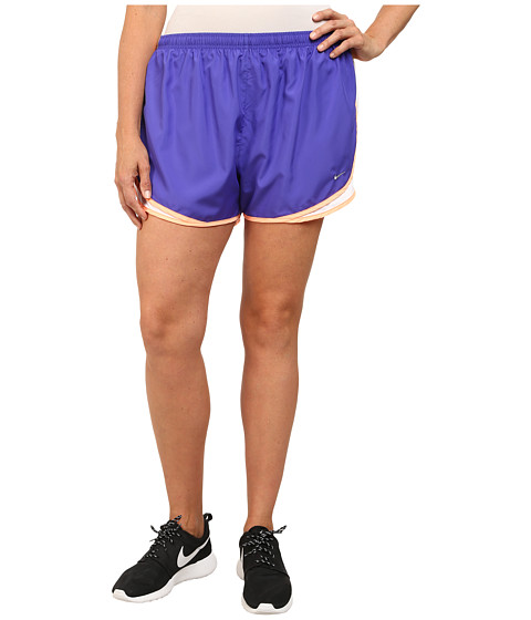 Nike - Extended Sizing Tempo Track Short (Persian Violet/White/Sunset Glow/Matte Silver) Women