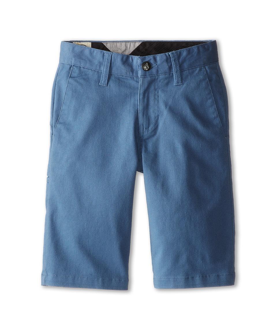 Volcom Kids - Frickin Modern Stretch Short (Big Kids) (Blue) Boy's Shorts
