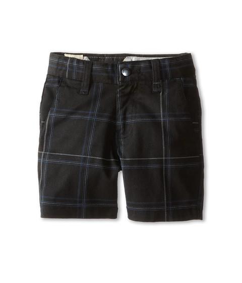 Volcom Kids - Frickin Plaid Stretch Short (Toddler/Little Kids) (Black) Boy's Shorts