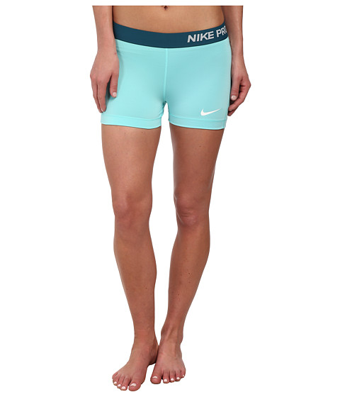 Nike - Pro Three-Inch Short (Light Aqua/Teal/White) Women's Shorts