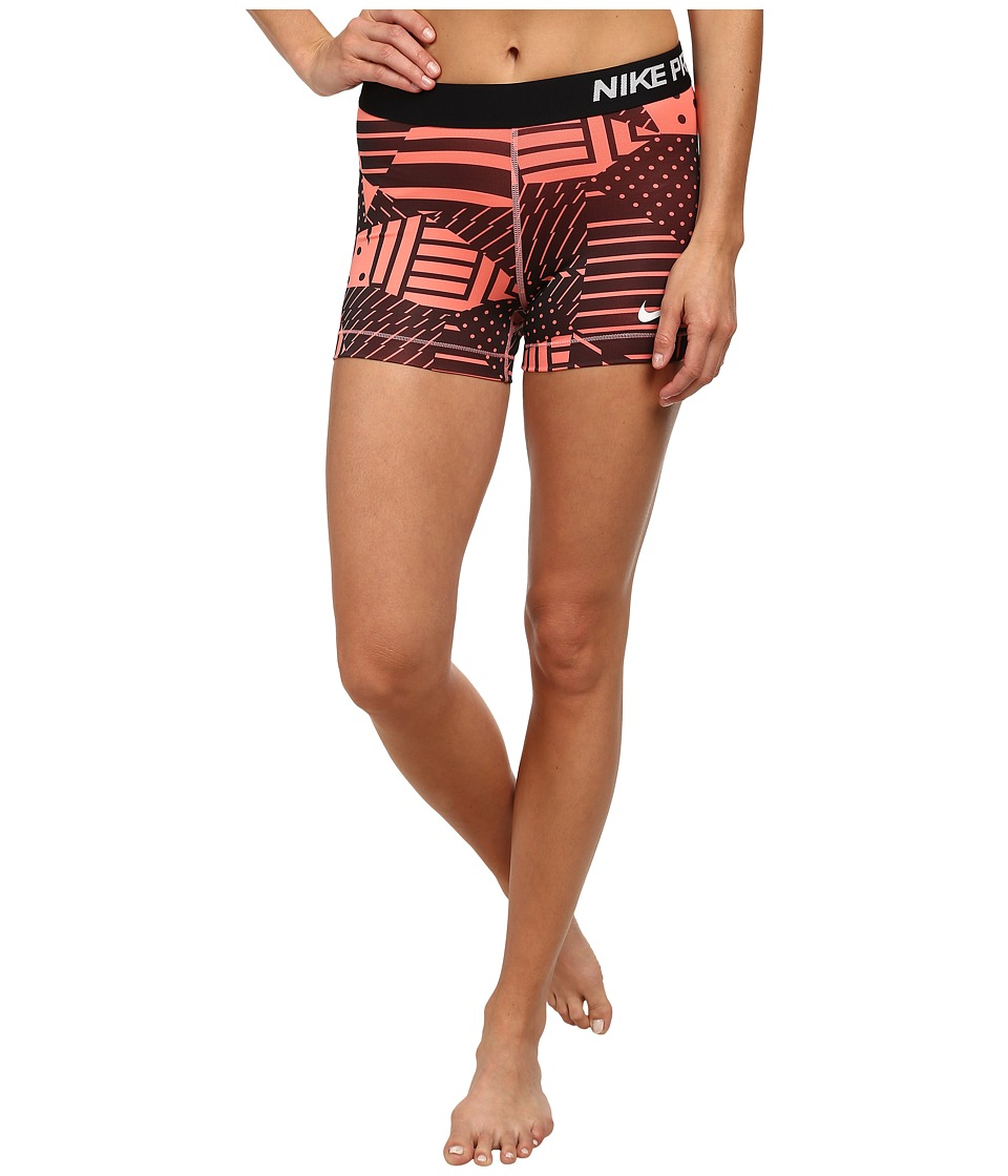 Nike - Pro Patch Work 3 Short (Sunblush/Black/White) Women's Shorts